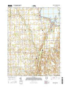 Russells Point Ohio Current topographic map, 1:24000 scale, 7.5 X 7.5 Minute, Year 2016