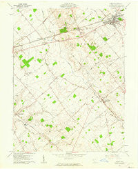 Sabina Ohio Historical topographic map, 1:24000 scale, 7.5 X 7.5 Minute, Year 1961