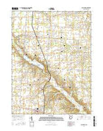 Saint Paris Ohio Current topographic map, 1:24000 scale, 7.5 X 7.5 Minute, Year 2016 from Ohio Map Store