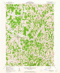 Sarahsville Ohio Historical topographic map, 1:24000 scale, 7.5 X 7.5 Minute, Year 1961