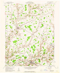 Sardinia Ohio Historical topographic map, 1:24000 scale, 7.5 X 7.5 Minute, Year 1961