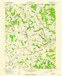 Seaman Ohio Historical topographic map, 1:24000 scale, 7.5 X 7.5 Minute, Year 1961
