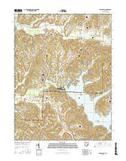 Senecaville Ohio Current topographic map, 1:24000 scale, 7.5 X 7.5 Minute, Year 2016 from Ohio Maps Store