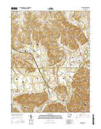 Shandon Ohio Current topographic map, 1:24000 scale, 7.5 X 7.5 Minute, Year 2016 from Ohio Map Store