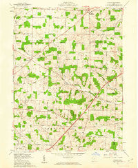 Shauck Ohio Historical topographic map, 1:24000 scale, 7.5 X 7.5 Minute, Year 1961