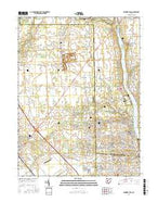 Shawnee Hills Ohio Current topographic map, 1:24000 scale, 7.5 X 7.5 Minute, Year 2016 from Ohio Map Store
