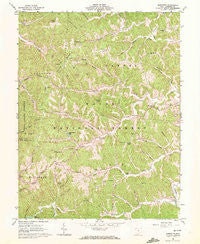 Sherritts Ohio Historical topographic map, 1:24000 scale, 7.5 X 7.5 Minute, Year 1961
