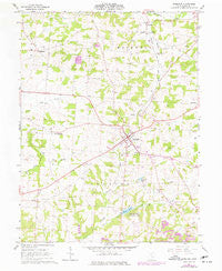 Somerset Ohio Historical topographic map, 1:24000 scale, 7.5 X 7.5 Minute, Year 1961