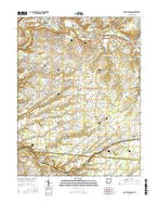 South Lebanon Ohio Current topographic map, 1:24000 scale, 7.5 X 7.5 Minute, Year 2016 from Ohio Map Store