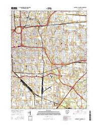 Southeast Columbus Ohio Current topographic map, 1:24000 scale, 7.5 X 7.5 Minute, Year 2016