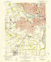 Southwest Columbus Ohio Historical topographic map, 1:24000 scale, 7.5 X 7.5 Minute, Year 1955