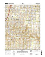Springboro Ohio Current topographic map, 1:24000 scale, 7.5 X 7.5 Minute, Year 2016 from Ohio Map Store