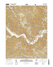 Stewart Ohio Current topographic map, 1:24000 scale, 7.5 X 7.5 Minute, Year 2016 from Ohio Maps Store
