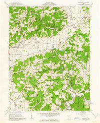 Stockdale Ohio Historical topographic map, 1:24000 scale, 7.5 X 7.5 Minute, Year 1961