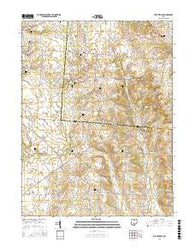 Stoutsville Ohio Current topographic map, 1:24000 scale, 7.5 X 7.5 Minute, Year 2016