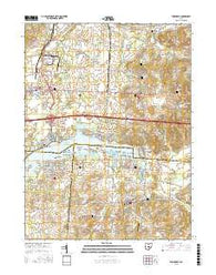 Thornville Ohio Current topographic map, 1:24000 scale, 7.5 X 7.5 Minute, Year 2016