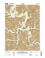 Tippecanoe Ohio Current topographic map, 1:24000 scale, 7.5 X 7.5 Minute, Year 2016 from Ohio Map Store