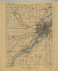 Toledo Ohio Historical topographic map, 1:62500 scale, 15 X 15 Minute, Year 1900