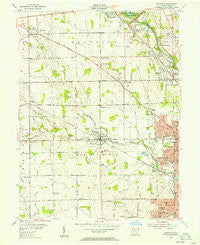 Trotwood Ohio Historical topographic map, 1:24000 scale, 7.5 X 7.5 Minute, Year 1955