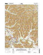 Uhrichsville Ohio Current topographic map, 1:24000 scale, 7.5 X 7.5 Minute, Year 2016 from Ohio Map Store
