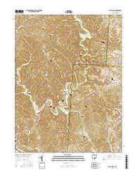 Vales Mills Ohio Current topographic map, 1:24000 scale, 7.5 X 7.5 Minute, Year 2016