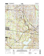 Warren Ohio Current topographic map, 1:24000 scale, 7.5 X 7.5 Minute, Year 2016 from Ohio Map Store