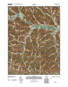 Warsaw Ohio Historical topographic map, 1:24000 scale, 7.5 X 7.5 Minute, Year 2010