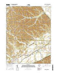 Waverly North Ohio Current topographic map, 1:24000 scale, 7.5 X 7.5 Minute, Year 2016