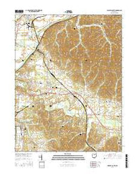 Waverly South Ohio Current topographic map, 1:24000 scale, 7.5 X 7.5 Minute, Year 2016