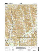 Waynesburg Ohio Current topographic map, 1:24000 scale, 7.5 X 7.5 Minute, Year 2016 from Ohio Map Store