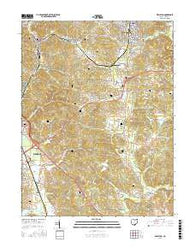 Wellston Ohio Current topographic map, 1:24000 scale, 7.5 X 7.5 Minute, Year 2016