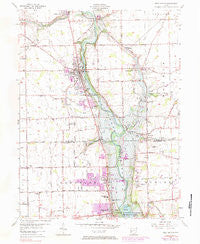 West Milton Ohio Historical topographic map, 1:24000 scale, 7.5 X 7.5 Minute, Year 1955