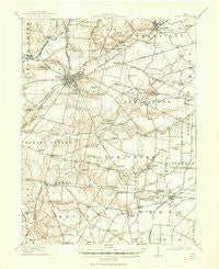 Xenia Ohio Historical topographic map, 1:62500 scale, 15 X 15 Minute, Year 1917