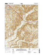 Zanesfield Ohio Current topographic map, 1:24000 scale, 7.5 X 7.5 Minute, Year 2016 from Ohio Map Store