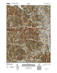 Zanesville West Ohio Historical topographic map, 1:24000 scale, 7.5 X 7.5 Minute, Year 2010