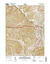 Zanesville West Ohio Current topographic map, 1:24000 scale, 7.5 X 7.5 Minute, Year 2016