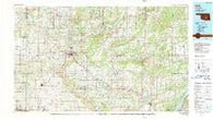 Ada Oklahoma Historical topographic map, 1:100000 scale, 30 X 60 Minute, Year 1990