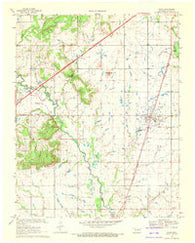 Adair Oklahoma Historical topographic map, 1:24000 scale, 7.5 X 7.5 Minute, Year 1969