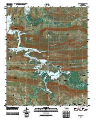 Adamson Oklahoma Historical topographic map, 1:24000 scale, 7.5 X 7.5 Minute, Year 2010