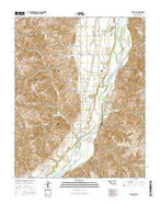 Aledo NE Oklahoma Current topographic map, 1:24000 scale, 7.5 X 7.5 Minute, Year 2016 from Oklahoma Map Store
