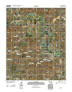 Alex Oklahoma Historical topographic map, 1:24000 scale, 7.5 X 7.5 Minute, Year 2012