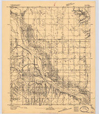 Ames Oklahoma Historical topographic map, 1:62500 scale, 15 X 15 Minute, Year 1893