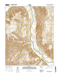 Antelope Hills NE Oklahoma Current topographic map, 1:24000 scale, 7.5 X 7.5 Minute, Year 2016