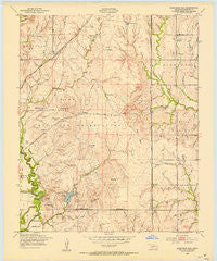 Arbuckle Hill Oklahoma Historical topographic map, 1:24000 scale, 7.5 X 7.5 Minute, Year 1949