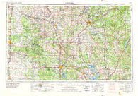 Ardmore Oklahoma Historical topographic map, 1:250000 scale, 1 X 2 Degree, Year 1957