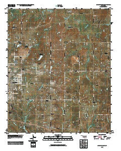 Ardmore East Oklahoma Historical topographic map, 1:24000 scale, 7.5 X 7.5 Minute, Year 2009
