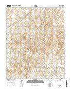 Arnett Oklahoma Current topographic map, 1:24000 scale, 7.5 X 7.5 Minute, Year 2016 from Oklahoma Map Store