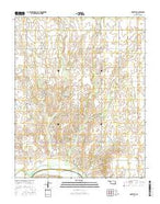 Arnett SE Oklahoma Current topographic map, 1:24000 scale, 7.5 X 7.5 Minute, Year 2016 from Oklahoma Map Store