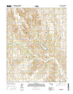 Arnett SW Oklahoma Current topographic map, 1:24000 scale, 7.5 X 7.5 Minute, Year 2016 from Oklahoma Map Store