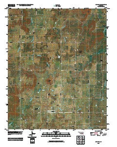 Ashland Oklahoma Historical topographic map, 1:24000 scale, 7.5 X 7.5 Minute, Year 2009